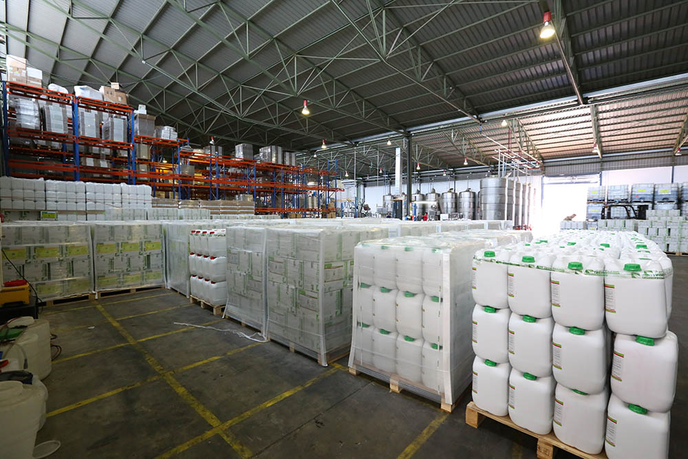 AgriTecno biostimulants warehouse