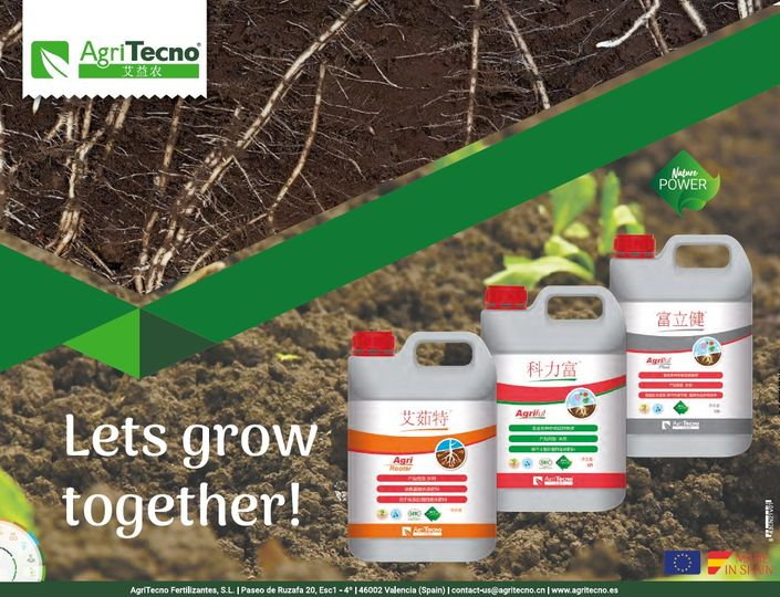 SOIL APPLICATION BIOSTIMULANTS for CHINA #AgriTecno Let´s grow together!  ·